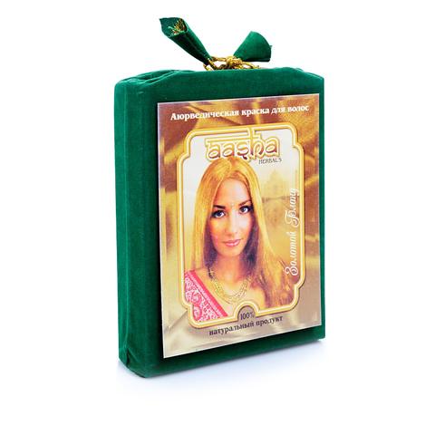 Аюрведическая краска Золотой Блонд, 100 г Aasha