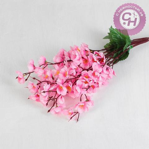 Сакура японская вишня, 7 веток, около 60 цветочков, букет 58 см.