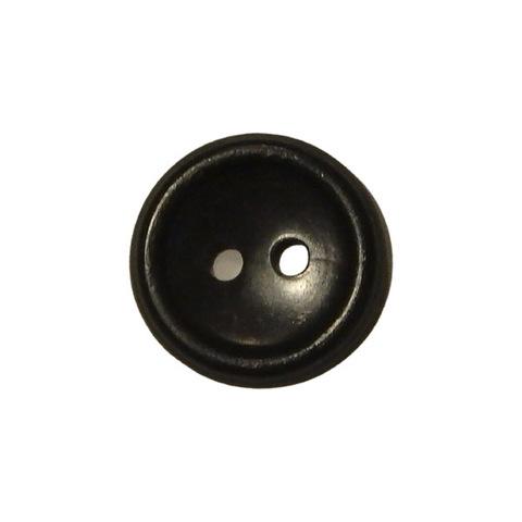 Пуговица 17 мм. с 2 отв. черная