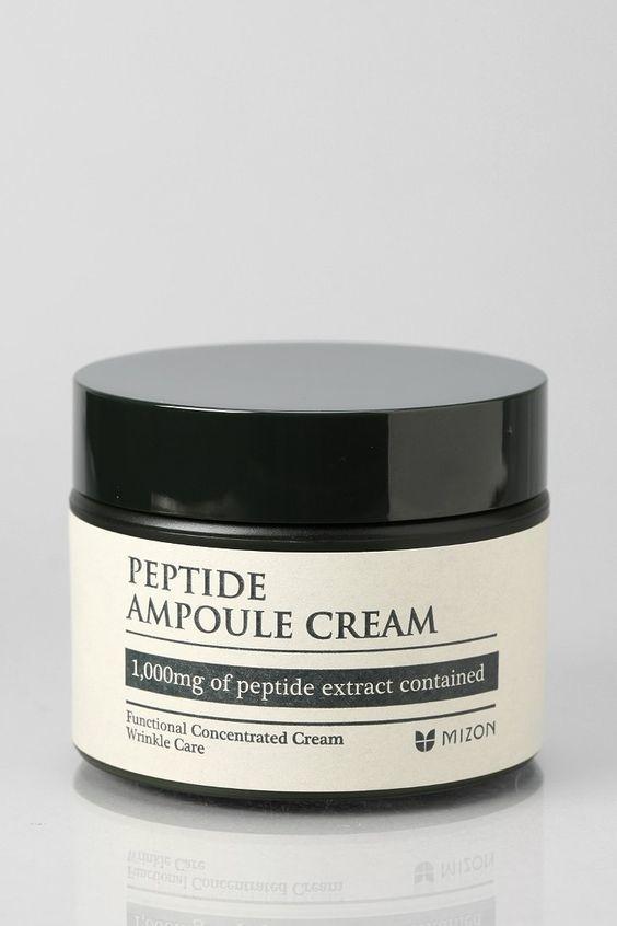 Интенсивно восстанавливающий  ампульный крем с пептидами  Mizon Peptide Ampoule Cream