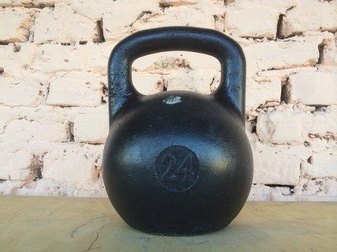 Гиря чугунная любительская 24 кг