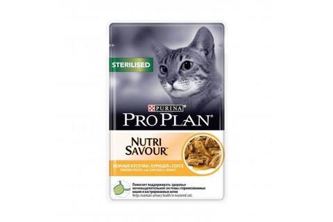 Консервы Purina Pro Plan для стерилизованных кошек и кастрированных котов, курица в соусе,  85 г