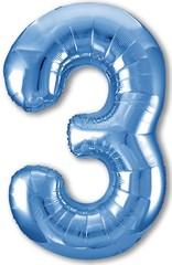 Р Цифра, 3 Slim, Синий,40''/102 см, 1 шт. в упак.