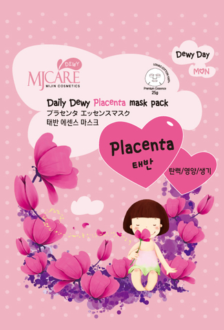 MIJIN Daily Dewy Маска тканевая с плацентой  MJ Care Daily Dewy Placenta mask pack