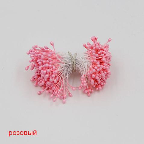 Тычинки для цветов двухсторонние, набор 10 шт., розовый