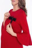 Джемпер для беременных 09006 красный