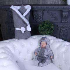 Зимний комплект на выписку из роддома Глория Weave (серый)