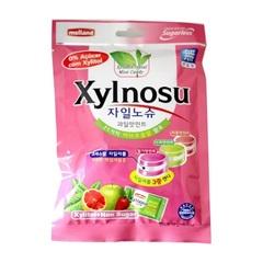 Карамель Kukje Melland Xylnosu Fruit Taste без сахара со вкусом грейпфрута, яблока, клубники 68 гр