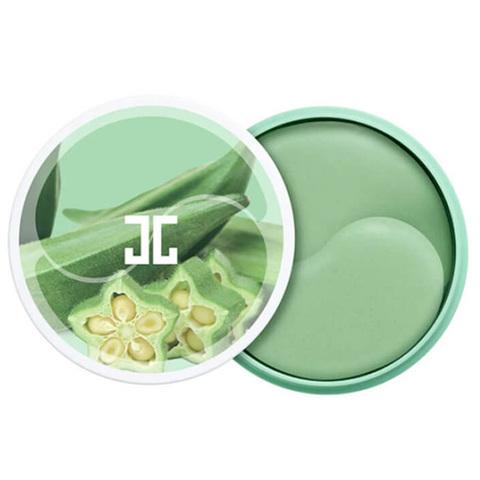 Jayjun Okra Green Eye Gel Patch Укрепляющие гидрогелевые патчи с экстрактом плодов окры 60 шт.