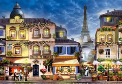 Завтрак в Париже ART от Wooden City - Позитивные и веселые деревянные пазлы с деталями разных формы, картина Парижа, которую вы собираете сами