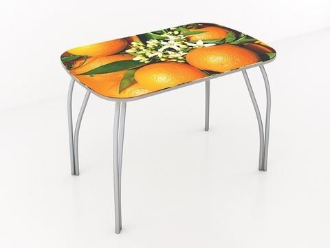 Стол обеденный со стеклом Лотос 1000х600 ЛДСП, металл ТЭКС фотопечать по каталогу