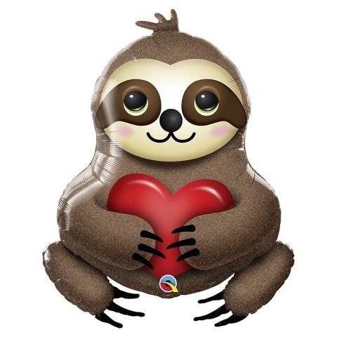 Воздушный шар фигура Ленивец с сердцем, 99 см