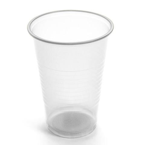 Стакан одноразовый Эконом пластиковый прозрачный 200 мл 100 штук в упаковке