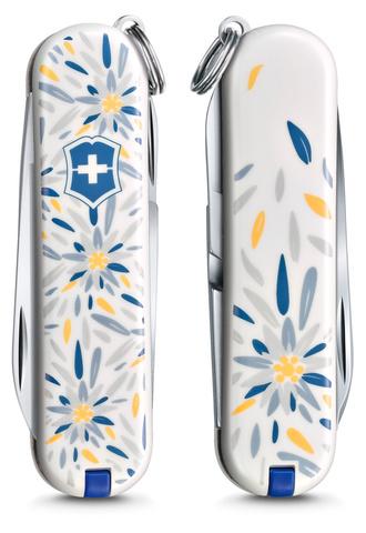 Нож-брелок Victorinox Classic LE 2021, 58 мм, 7 функций, Alpine Edelweiss