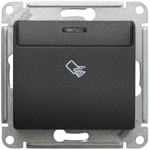 Карточный выключатель. Цвет Антрацит. Schneider Electric Glossa. GSL000769