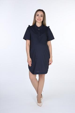 Туника для беременных 10359 темно-синий