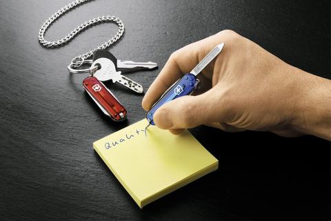 Нож-брелок Victorinox Classic Signature, 58 мм, 7 функций, полупрозрачный синий123