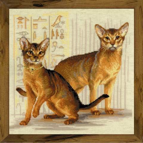 Набор для вышивания крестом «Абиссинские кошки» (1671)