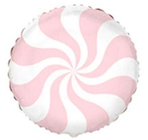 Шар круг конфета-леденец с гелием, персиковый, 46 см