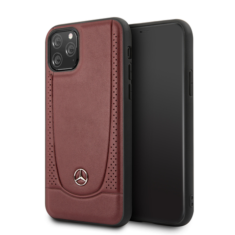 Mercedes / чехол для iPhone 11 Pro | Urban Smooth/perforated Hard Leather Red