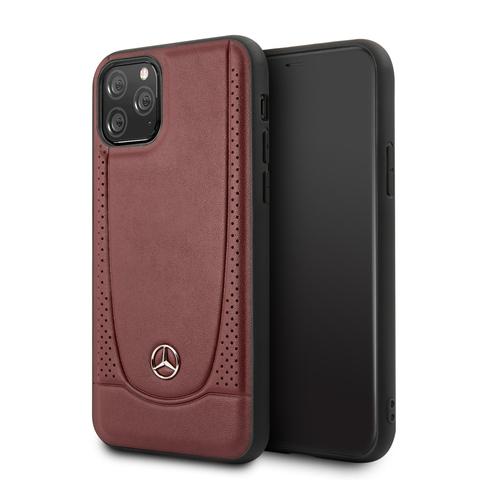 Чехол Mercedes для iPhone 11 Pro | логотип перфорация кожа красный