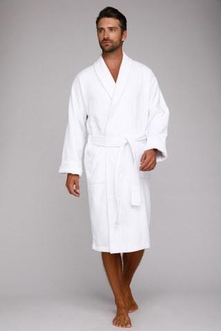 Мужской банный халат King Power 303 белый
