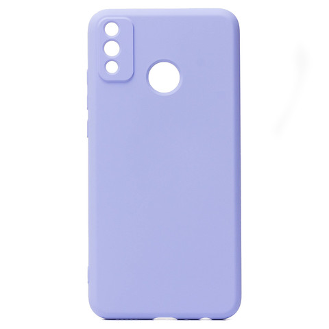 Чехол для Huawei Honor 9X Lite Софт тач мягкий эффект | микрофибра, светло-фиолетовый