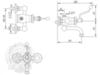 Смеситель для душевой колонны  Migliore Vivaldi ML.VIV-9903 схема