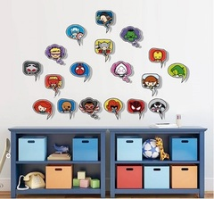 Супергерои Марвел 3D наклейка Спич-баббл
