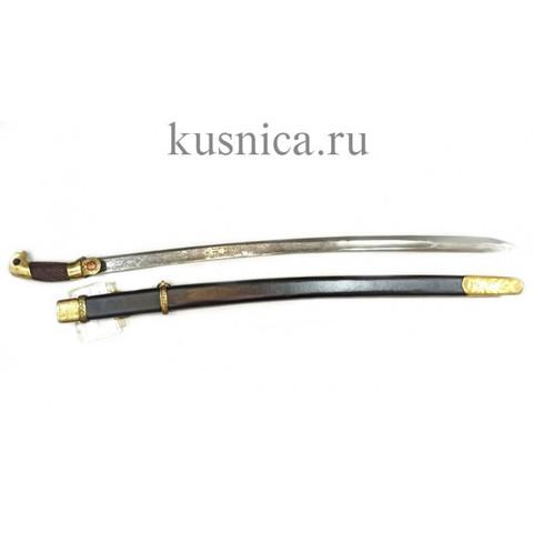 Шашка казачья образца 1881г. клинок дамасская сталь арт.Р1Д-2