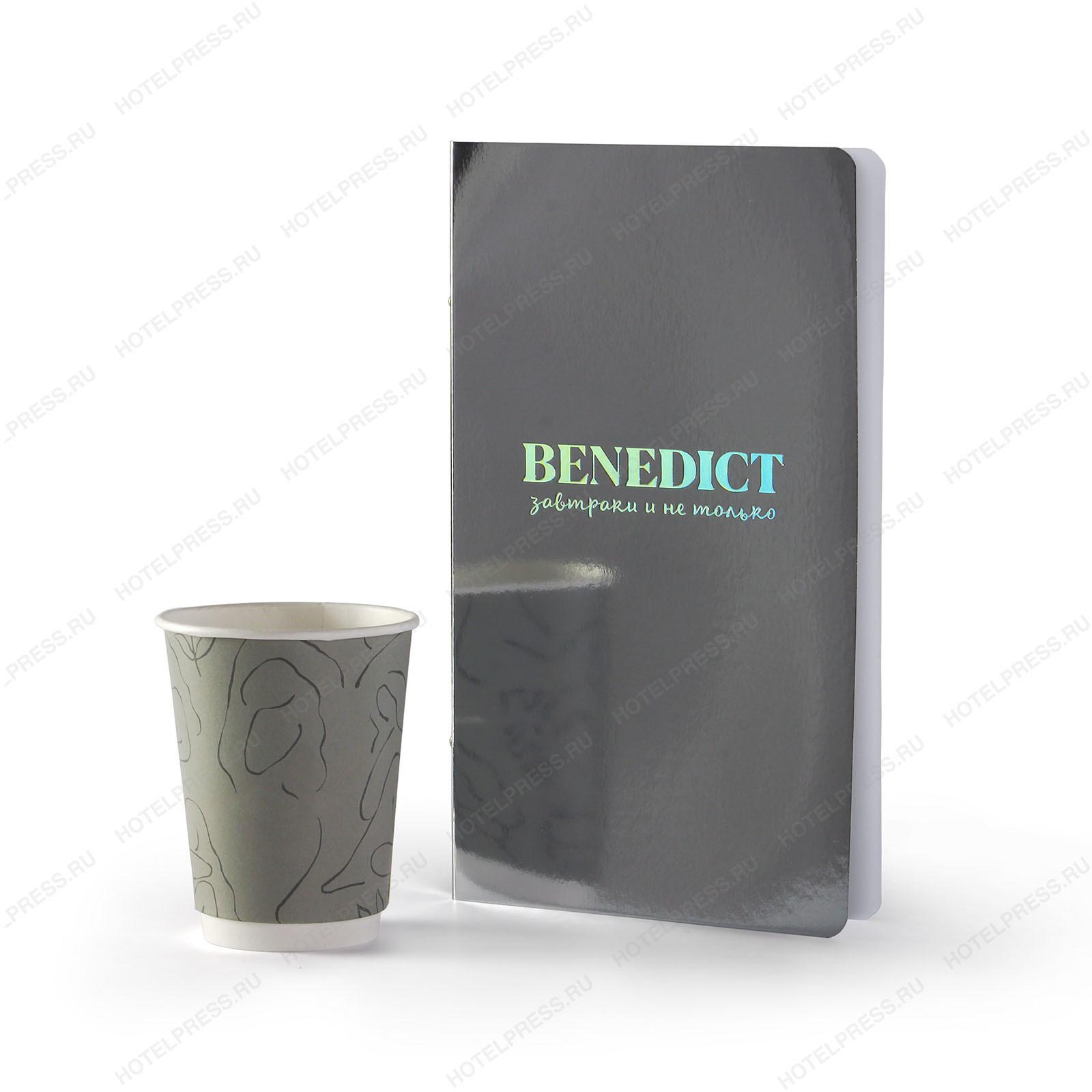 Зеркальная папка меню Benedict Cafe by WRF