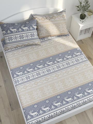 Простынь на резинке  -Скандинавия- натяжная 90х200х26 см 1,5-спальная