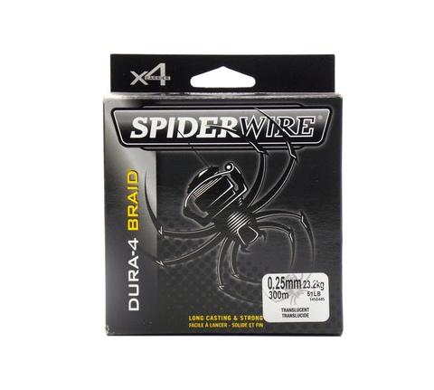Плетеная леска Spiderwire Dura4 Braid Полупрозрачная 300 м. 0,25 мм. 23,2 кг. Tran (1450445)