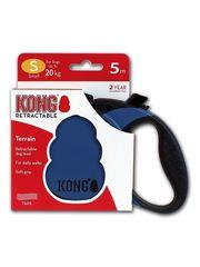 Поводок-рулетка Kong Terrain S (до 20 кг), лента 5 метров, синяя