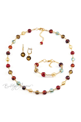 Комплект Carnavale Oro (бронзовые серьги на серебре, ожерелье, браслет)