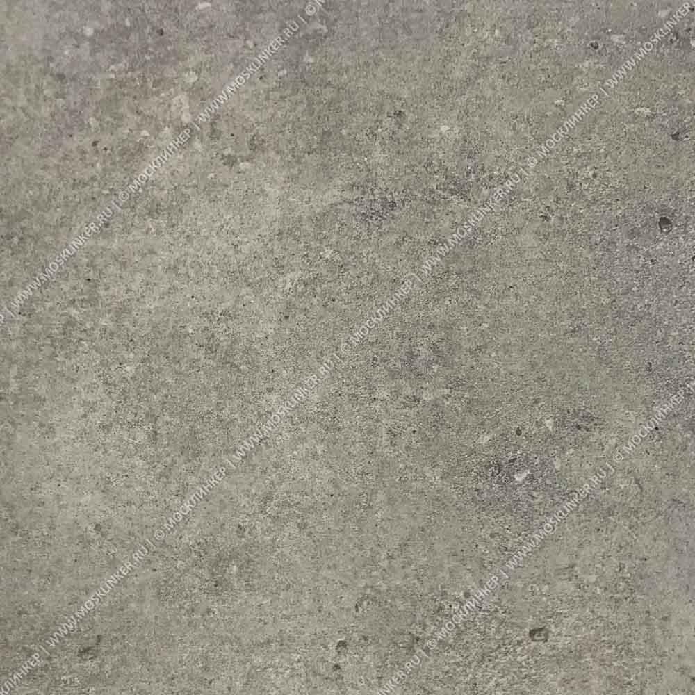 Stroeher - Gravel Blend 962 grey 294х340х35х11 артикул 9430 - Клинкерная ступень прямоугольная рядовая Loftstufe