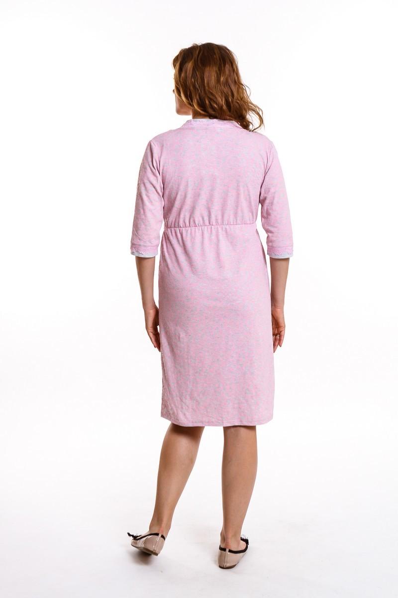 Комплект для беременных и кормящих с халатом и сорочкой 09323 серый меланж