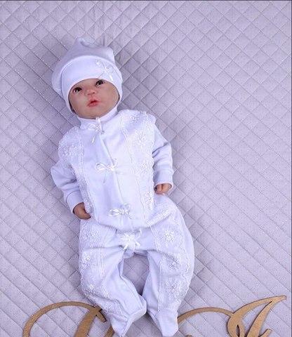 Крестильный костюм белый