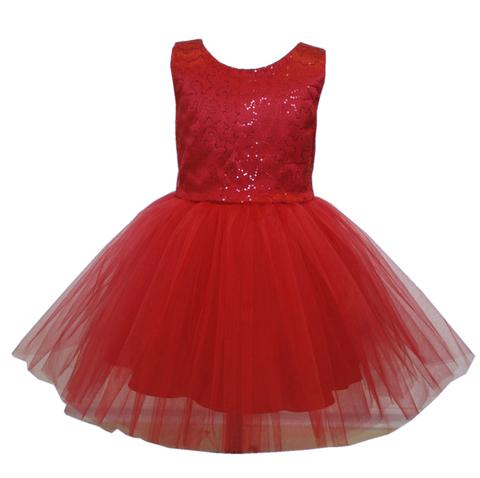 Платье красное с пайетками для малышек