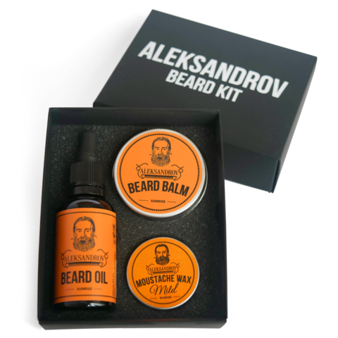 Набор ALEKSANDROV Beard Kit № 01 (Oil Sunrise, Balm Sunrise, Wax Mild Sunrise)