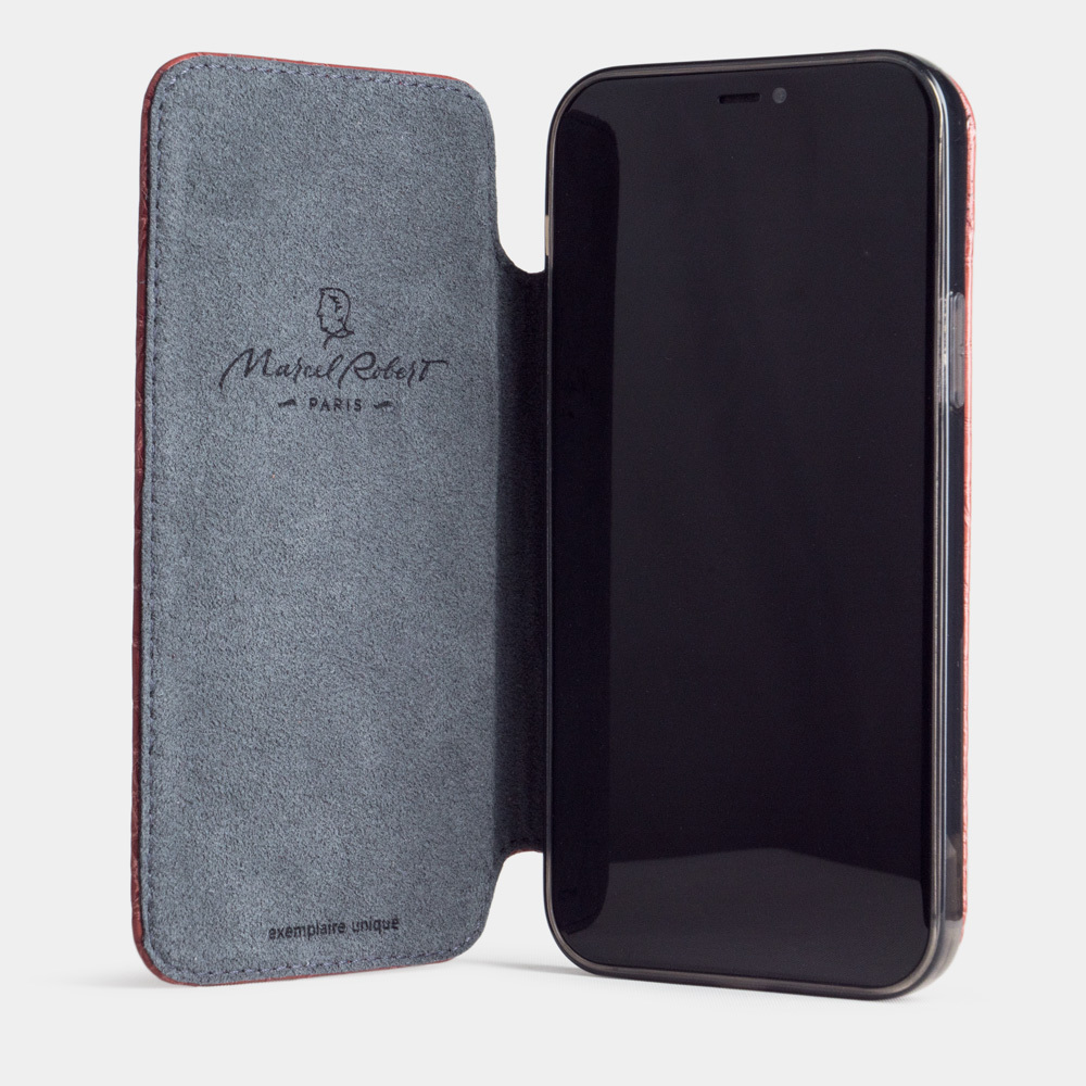 Special order: Чехол Benoit для iPhone 12/12Pro из натуральной кожи крокодила, розового цвета