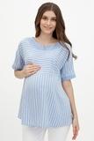 Блузка для беременных 09589 голубой