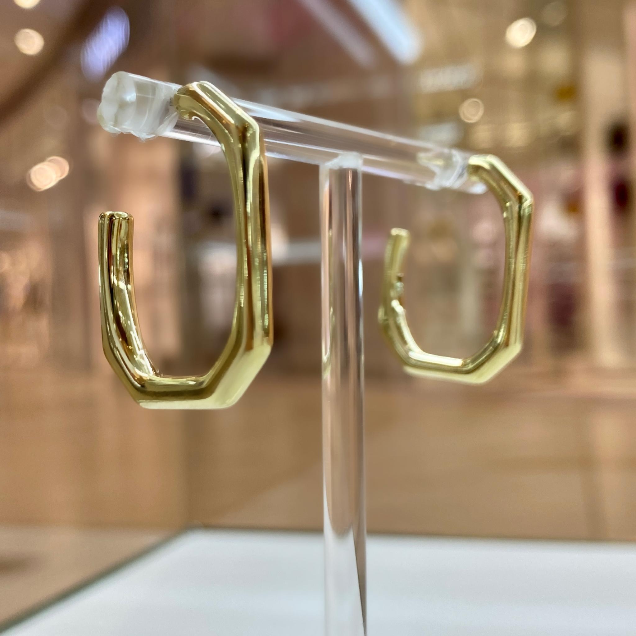 Серьги-конго овальные (золотистый)