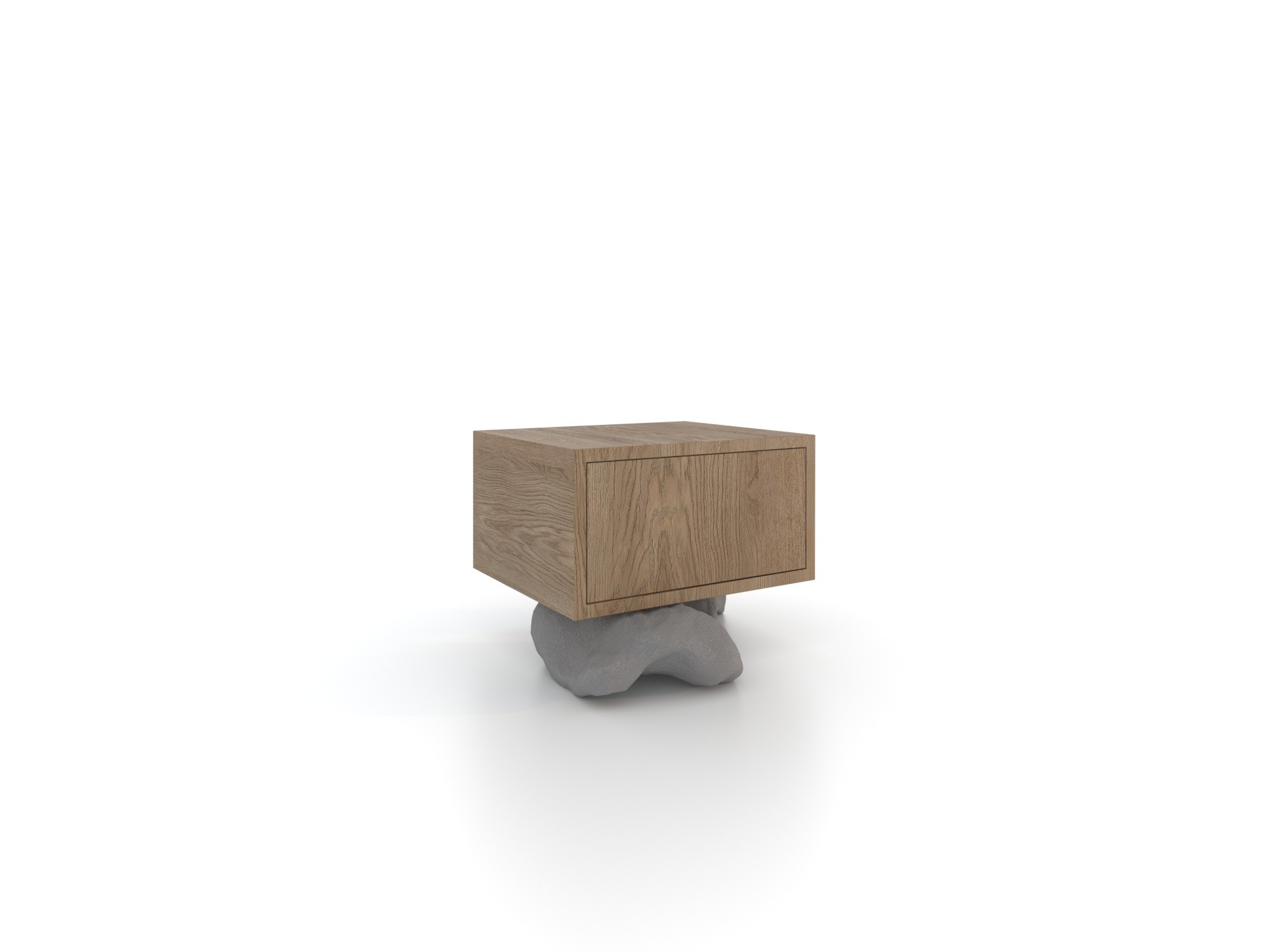 Тумба прикроватная на камнях