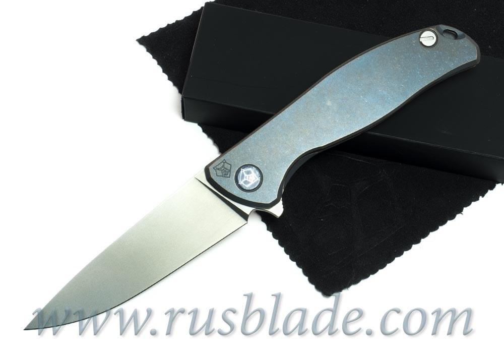 Shirogorov Flipper 95 М390 Blue Anod