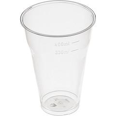 Стакан одноразовый Эконом пластиковый прозрачный 330 мл 50 штук в упаковке