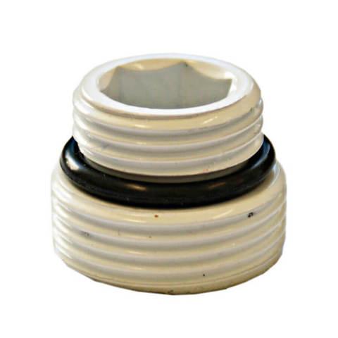 Ниппель Белый с уплотнением Размер 1/2 x 3/4 под EURO KONUS