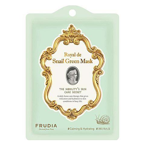 Frudia Маска тканевая омолаживающая с экстрактом улитки - Royal de snail green mask, 25мл