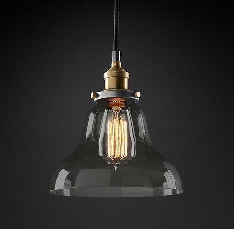 Подвесной светильник копия 20th C. Factory Filament Smoke Glass Boulangerie Pendant by Restoration Hardware