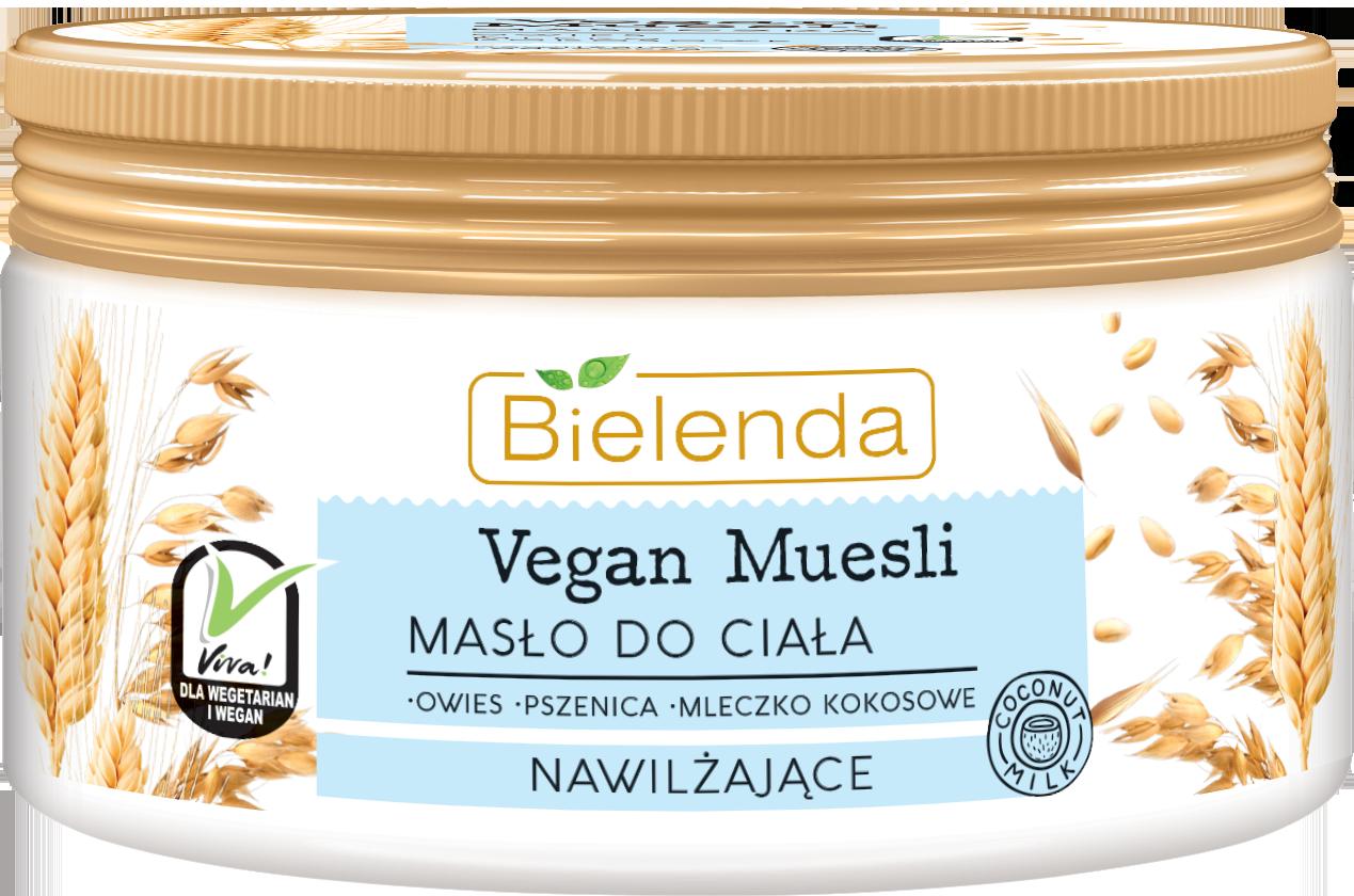 VEGAN MUESLI увлажняющее масло для тела пшеница+овёс+кокосовое молоко 250 мл